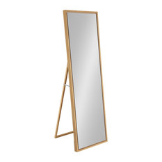 Evans Free Standing Floor Mirror with Easel, Natural 18x58