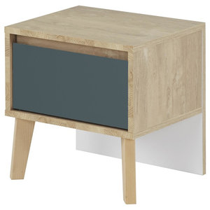 Larvik Bedside Table With Drawer, Blue