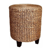 Woven Water Hyacinth Lily Side Table