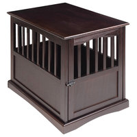 "Pet Crate End Table, Espresso, 24""x36.5""x27.75"""