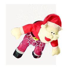 Animated Santa Breaking Through a Window Christmas Display Decoration