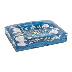 Antille Countertop Soap Dish, Blue