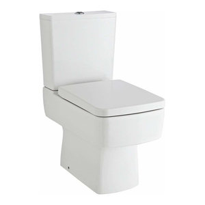 Bathroom White Ceramic Toilet and Basin with Single Tap Hole, Modern Design