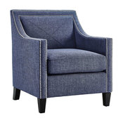 Garrett Blue Linen Chair
