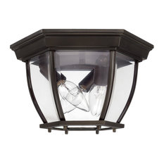 Capital Lighting 9802 Capital Outdoors 3 Light Outdoor Flush - Old Bronze