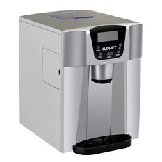 2 in 1 Countertop Ice Maker, Produces 36 lbs Ice in 24 Hours, Silver
