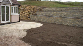 Terraced Stone Wall Landscaping Job