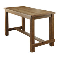 Charlie Rustic Oak Counter Height Dining Table, Natural Tone