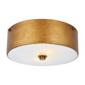 "Hazen 2-Light 12"" Flush Mount, Vintage Gold"