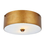 "Hazen 2-Light 12"" Flush Mount, Vintage Gold"