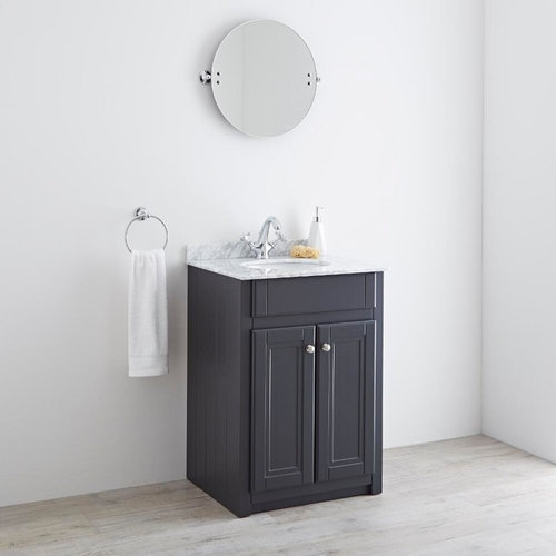 Milano Edgworth 600mm Anthracite Traditional Vanity Unit   Bathroom Vanities  And Sink Consoles