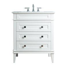 Stufurhome Corinne 36-inch White Single Sink Bathroom Vanity