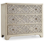 Hooker Furniture - Sanctuary Fretwork Chest-Pearl Essence - Storage has never looked so stylish. Use the Sanctuary Fretwork Chest in the bedroom or as a petite entryway console to display decoratives and fashionably stash loose odds and ends. This piece marries traditional materials with detailed embellishment for a modern interpretation of a classic item.