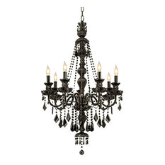 Gothic chandeliers houzz jet black gothic crystal chandelier 7 light chandeliers aloadofball Images