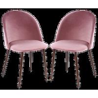 Edgemod Sedona Velvet Dining Chair, Set of 2, Dusty Rose