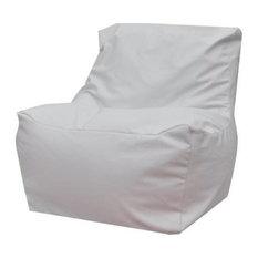 Modern Bean Bag Inc. QuickSand Bean Bag Chair, White, Microfiber Leather