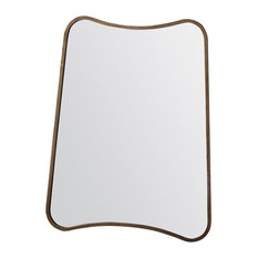 Kurva Rectangular Wall Mirror With Gold Frame, 60x80 cm