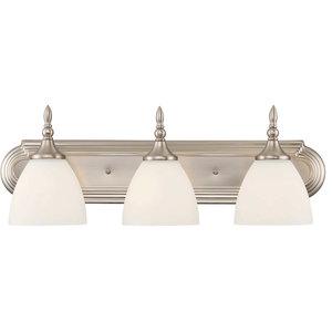 Herndon 3 Light Bath Bar, Satin Nickel