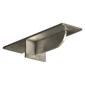 2 W X 10 D X 10 H Legacy Steel Bracket Stainless Steel Traditional Brackets By Burroughs Hardwoods Inc