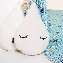 Nursery decor sleepy raindrop decorative cushion by Cuddlesome
