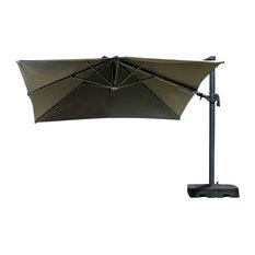 Atlantic Liberty Aluminum Square Patio Umbrella With Base, 10'x10'