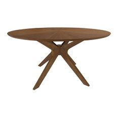 Modrest Prospect Modern Large Round Walnut Dining Table