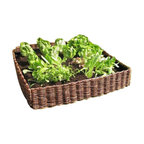 """Complete Woven Willow Raised Bed Kit, 48""""W x 48""""L x 10""""H"""