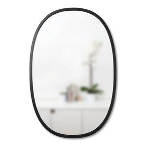 Umbra Hub Modern Wall Mount Oval Mirror Black