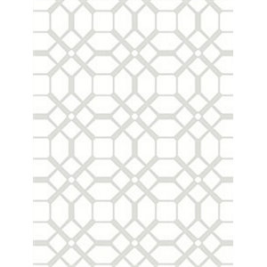 Contemporary Chic Tile Wallpaper, Grey and White, Norwall Wallcoverings