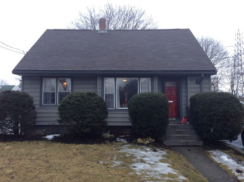 Grey Siding Brown Roof