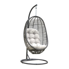 Panama Jack Graphite Hanging Chair With Frame