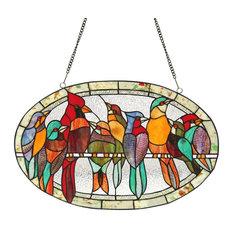 "CHLOE Lighting, Inc. - Chloe Lighting Kuno Stained Glass Window Panel, 23.5""x15"" - Stained Glass Panels"