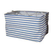 Blue Stripes Foldable Laundry Box Waterproof Household Laundry Basket