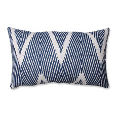 Bali Mandarin Rectangular Throw Pillow, Navy
