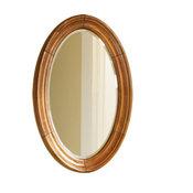 Guild Hall Vanity Mirror, Distressed Pecan Finish, Small