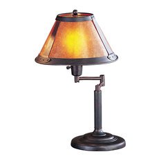 Mica 1 Light Desk Lamp in Rust