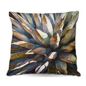 "Sunstruck Yucca Plant Throw Pillow, 18""x18"""