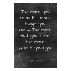 """The More You Read"" Dr. Seuss Quote, Motivational Classroom Poster"