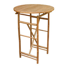 Bamboo High Round Table