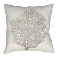 "Coastal II by Surya Poly Fill Pillow, Beige/Neutral, 18""x18"", SOL035-1818"