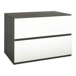 Eco-Friendly Night Stand with Flip Door and Drawer Nexera