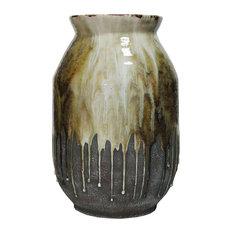 Born Ceramic Vase Amber, Yellow