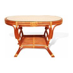 RattanUSA   Pelangi Oval Coffee Table, Colonial   Coffee Tables