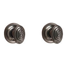 Spiral Cabinet Knob, Pewter