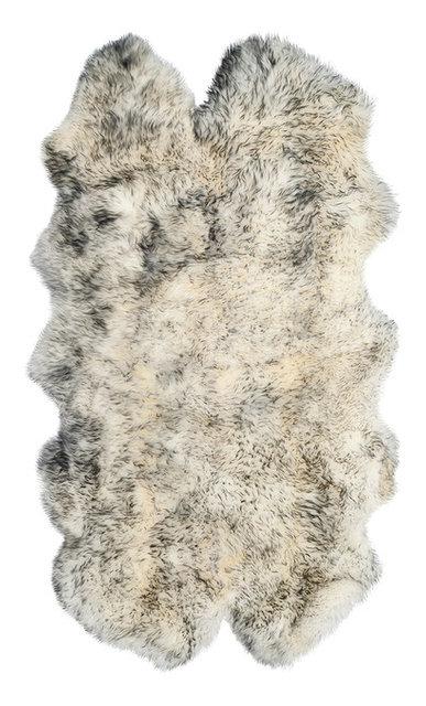 New Zealand Quattro Sheepskin Rug Grant Gray