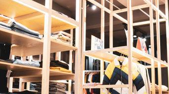 Reforma interior de tienda, diseño de interiores