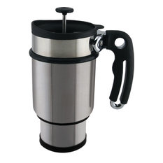 Double Shot French Press, Brushed Steel, 14 Oz