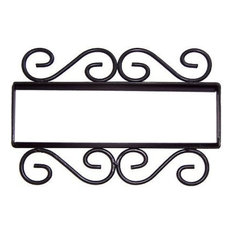 Wrought Iron House Number Frame Hacienda 5