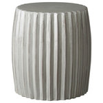 Emissary - Emissary Pleated Garden Stool, Green - Our Emissary Pleated Garden Stool Green features a rich, metallic glaze, in a brilliant shade of blue this modern accent piece can be used as a side table from the living room to the bedroom or to the patio to pool side!