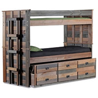 Morgan Creek Multicolor XL Bunk Beds with Trundle, Extra Long Twin Over Twin